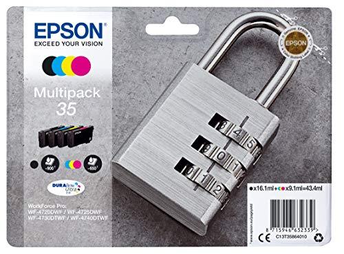 Epson 35 Serie Lucchetto Cartuccia Originale, Standard, Multipack, 4 Colori