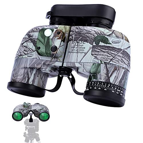 Binocolo 10x50, per binocoli da caccia per adulti, per navigazione, nautica, sport acquatici, prisma BAK4, impermeabile