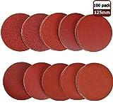 schleifpapier schleifscheiben 125 mm klett 10 x (180/240/320/400/600/800/1000/1200/1500/2000) 100 Stück für Exzenterschleifer Schleifteller