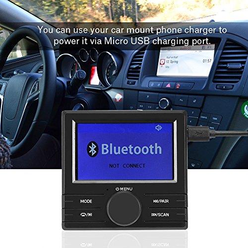 Richer-R Auto DAB+ Digital Radio Adapter, Bluetooth Digital Radio DAB DAB + Audioempfänger FM Transmitter Autoradio mit Antenne,Unterstützung TFT Display/RDS/DLS Schwarz