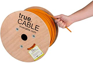 Cat6 Plenum Shielded (CMP), 1000ft, Orange, 23AWG Solid Bare Copper, 550MHz, ETL Listed, Overall Foil Shield (FTP), Bulk Ethernet Cable, trueCABLE