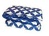 Casatex Piumino Singolo in Piuma Naturale, Stampato con Decoro - Colore Blu
