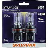 SYLVANIA 9004 XtraVision Halogen Headlight Bulb, (Contains 2 Bulbs)