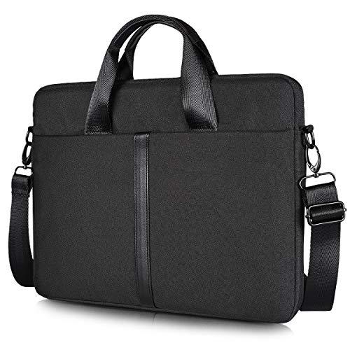 17.3 inch Laptop Shoulder Bag for HP 17.3' Laptop/Pavilion 17/Envy 17T/PROBOOK 17, Dell Inspiron 17, Lenovo Ideapad L340 17.3, ASUS 17.3 Gaming Laptop, Slim & Lightweight Case for Travel, Black