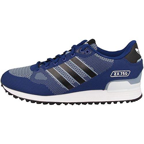 adidas Zx 750 Wv, Chaussures de Fitness homme - Multicolore - bleu/noir (Tinmis / Negbas / Ftwbla), 41 1/3 EU