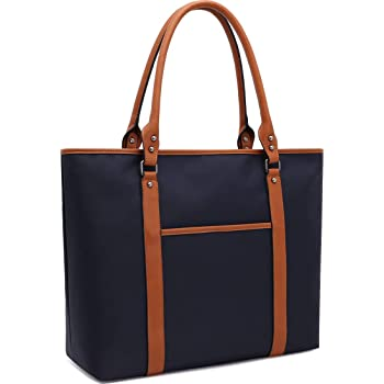 Laptop Bag for Women 15-17 Inch Laptop Bags Lightweight Nylon Work Tote Bags Business School Computer Shoulder Bag Large Capacity Briefcase,Navy
