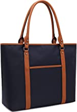 Laptop Bag for Women Lightweight Nylon Work Tote Bags Business School Computer Shoulder Bag Large Capacity Briefcase Accommodate 15-15.6 Inch Laptop,Navy
