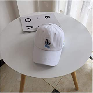Hats Unisex Leisure Visor Cap Soft Top Embroidery Sports Hat Panda Letter Baseball Cap Fashion (Color : White, Size : F)