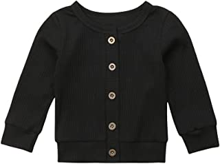 Newborn Baby Girl Boy Knitted Button-Down Cardigan Sweater Coat Outwear Spring Clothes Outfit