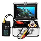 Eyoyo Underwater Fishing Camera Video Fish Finder 7 Inch Screen 1000 TVL Waterproof Camera w/Infrared & Yellow Lights for Ice Lake Sea Night Fishing 30m (98ft) Cable