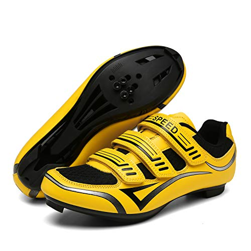 Unisex Mens Womens Road Bike Cycling Shoes with SPD-SL and Look Delta Cleat Compatible for Peloton Indoor Outdoor Road Bike Lock Pedal Spin Shoes