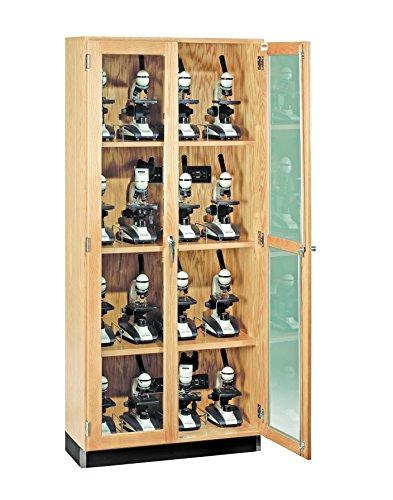"Big Sale Diversified Woodcrafts 373-3616 Oak Wood Micro-Charger Glass Door Cabinet, 36"" Width x 84"" Height x 16"" Depth"