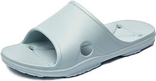 Anbenser Womens Shower Slides Sandals Quick Drying Anti-Slip Lightweight Soft Indoor Floor Slippers House Slippers Size 6-12