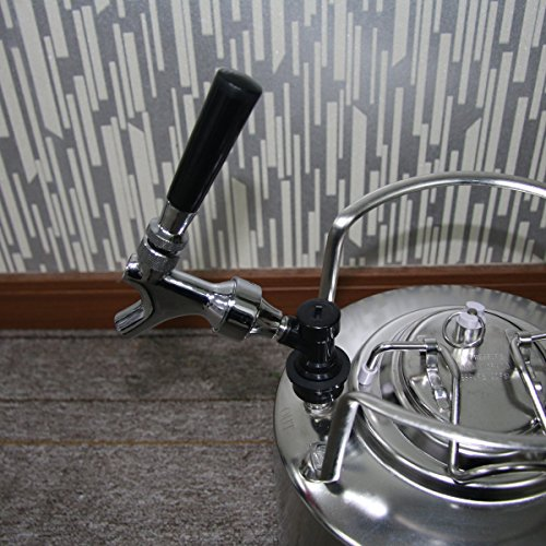 Stainless Steel Stem Beer keg Tap Faucet with Ball Lock disconnect chromed body