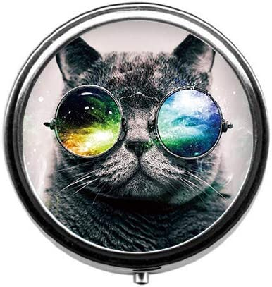 Eareeco - Cats Sale price with Glasses Case Box Pill Round C Max 45% OFF