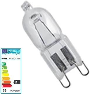 Classe energetica D confezione x 1 240v G9 66733 Halopin alogena di vetro libera della capsula G9 lampada Osram,Osram 33W 230v