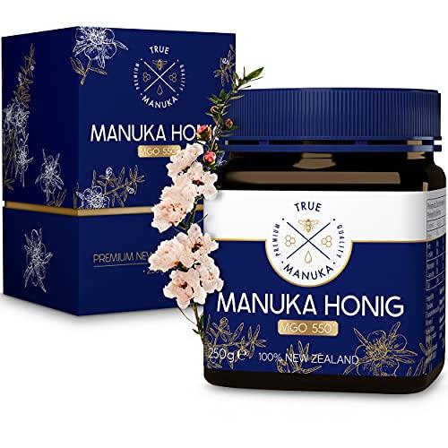 True Manuka - Manuka Honig MGO 550+ - 250g - 100% Pur aus Neuseeland - Mit zertifiziertem Methylglyoxal Gehalt…