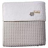 Koeka Oslo 1015/44-020600/100 Bettdecke für Kinderbett, Silbergrau/Weiß