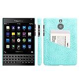 HualuBro - Funda para Blackberry Passport Silver Edition, diseño de cocodrilo, Compatible con Blackberry Passport Silver Edition (Fabricado en Piel sintética.)