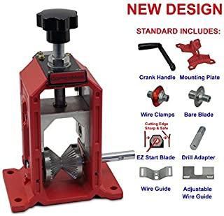 Manual Cable Wire Stripping Machine Copper Wire Stipper Hand Crank & Drill Operated