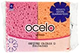 O-Cel-O Handy Sponges, Assorted Colors(Packaging May vary), 4 Count, pack of 4