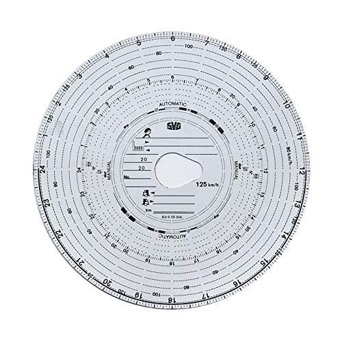 3 Packungen Tachoscheiben Diagrammscheiben bis 125 km/h Tachoblatt Kontrollscheiben 125-24 Fahrtenschreiberscheiben Tachographen