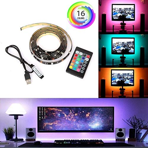 Dickin Computer Television Background Lights 24 Keys Remote Controller LED Light Strip Rope Lights