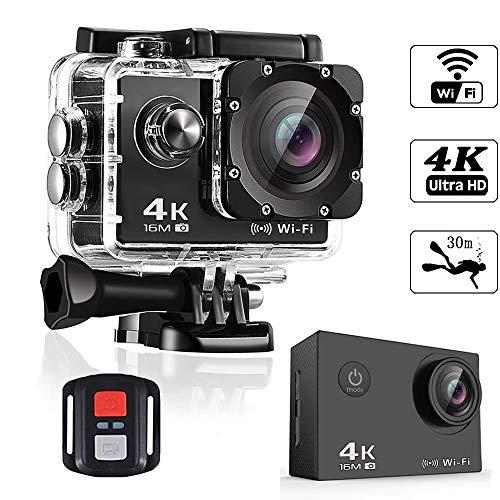 Caméra Sport Ultra 4K 1600W Pixels 2.4G À Longue Portée De 30 Mètres Imperméable À l'eau Convient pour Diverses Activités Extrêmes Intérieure Et Extérieure