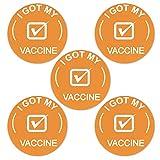 Morran Recibí Una Notificación De Destinatario Vacunado Insignias De Botón Trasero De Pin De Salud Pública Alentado por Los CDC, Alfileres De Botón con Insignia De La Suerte Redondos
