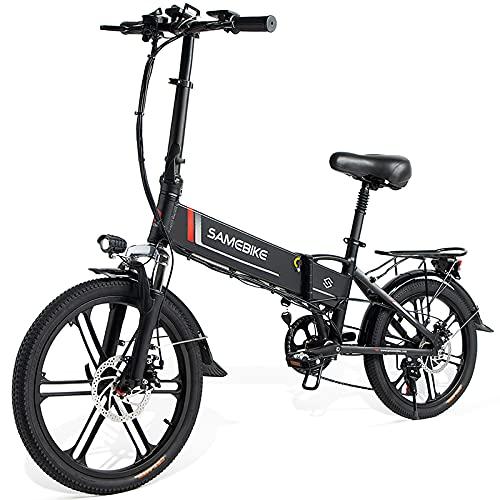 SAMEBIKE 20 Zoll Elektrofahrrad E-Bike, Klappbares Citybike Herren Damen 350W 48V 10.4AH, Elektrische Fahrräder mit LCD Display & Vorder und Rückfahrradbeleuchtung (Magnesiumlegierungsfelgen)