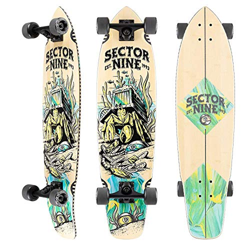 """Sector 9 Longboard Complete Fortune Ft. Point Carving Cruiser 8.75"""" x 34"""""""