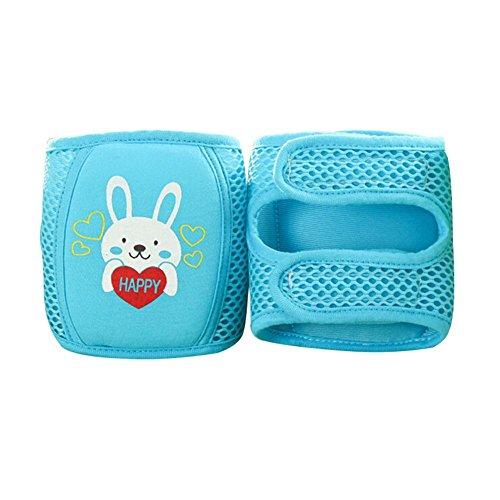 Rodilleras para bebé, para niños, transpirables, de malla, para niños, con función anti pelotas, se pueden adaptar a la rodilla del bebé, Azul