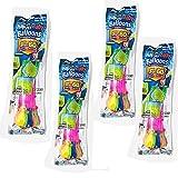 Globos de Agua Pequeños, Bombas de Agua, Bunch o Balloons, Llenado Ultra Rápido, 37 Globos en menos de 60 Sg Incluye 4 Bolsas de 37 Globos Cada 1 (pack 4 bolsas)