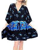 LA LEELA Piratas Calabaza Cráneo Cosplay Disfraces De Fiesta De Halloween Costume Playa de del Traje de baño Bikini Traje de baño de Las Mujeres Cubre para Arriba el Vestido Kimono Caft?n Azul_D769