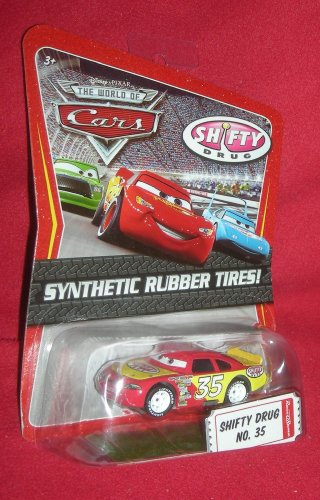 Disney / Pixar CARS Movie Exclusive 1:55 Die Cast Car with Sythentic Rubber Tires Shifty Drug