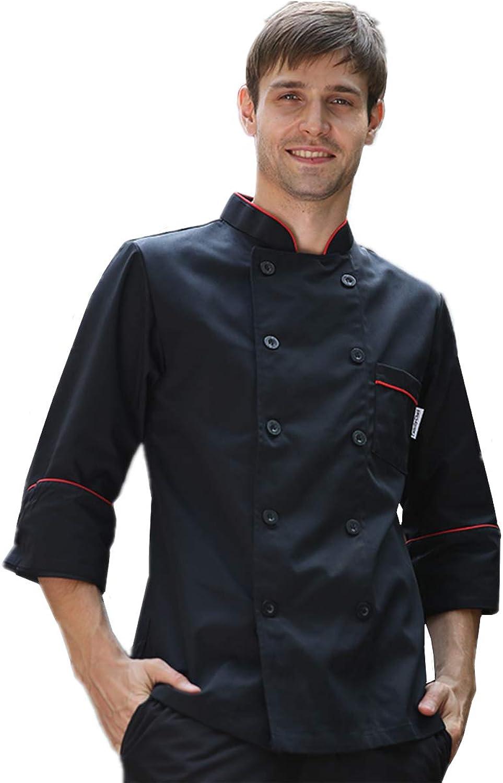 Altafini Unisex Chef Jacket  DoubleBreasted Long Sleeve Chef Coat