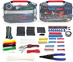 WORKPRO 582-piece Crimp Terminals, Wire Connectors, Heat Shrink Tube, Electrical Repair Kit with Wire Cutter Stripper