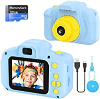 Kids Camera Toy Mini Rechargeable Digital Camera Kids Toys Kids Gift for Girls 2 inch HD Screen 32GB TF Card 1080P...