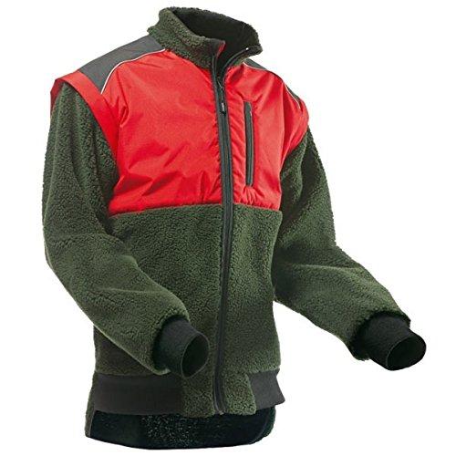 Pfanner warme Faserpelz Jacke Highland, Größe:XS, Farbe:orange/grün