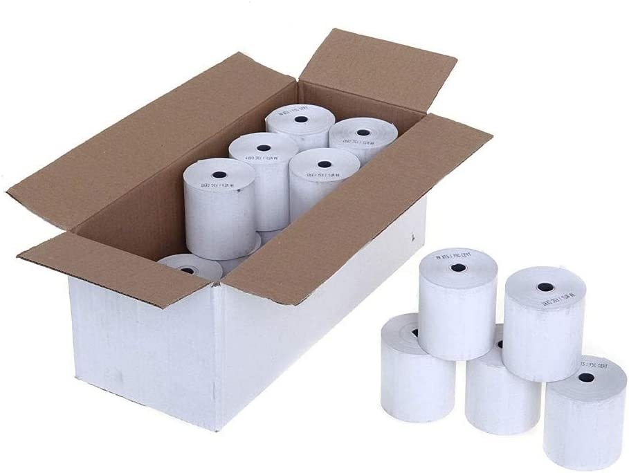 Roll-X Quality Assured White Thermal Till Rolls 80 x 80 mm Pack of 20