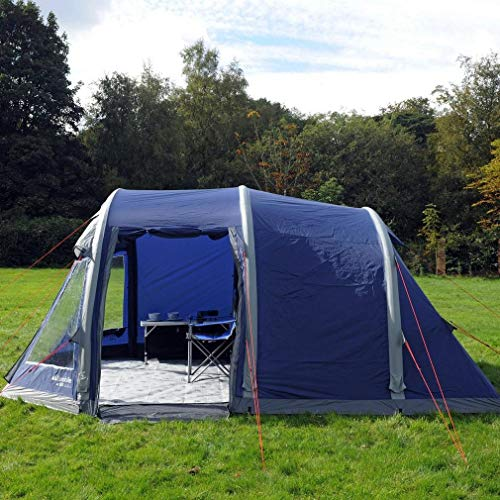 Eurohike Air 600 Easy To Pitch 6 Person Inflatable Tent, Navy, One Size Outdoor Recreation Apparel & Equipment Sporting Goods
