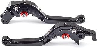 Tencasi Negro CNC Plegable Extensible Ajustable Palanca de embrague de freno para YAMAHA FZ6 FAZER / S2 2004-2010 , FZ6R 2009-2015 , XSR900 ABS 2016-2017, XSR700 ABS 2016-2017