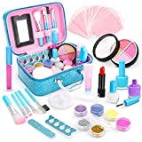 Dreamon Lavable Maquillage Enfant Jouet Fille, Princesse Maquillage Beauté Cadeau avec Trousse de Maquillage Fille 4 5 6 Ans, 42 PCS