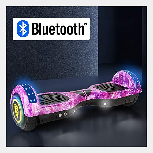 Selbst Balancing Hoverboard for Kinder und Erwachsene, Connect Bluetooth Musik zu Spielen, Laden des 90KG, Höchstgeschwindigkeit 15 km/H, Maximum Mileage ca. 25 km, Geeignet for Kinder und EIN gerin
