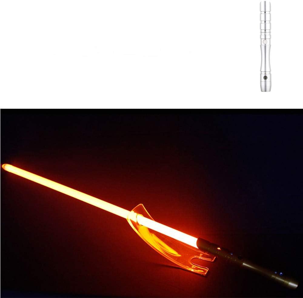 Laserschwert F/üR Kinder Und Erwachsene Leuchtendes Schwert Mit Soundeffekt JLKJBH Lichtschwert Mit Metallgriff Silberner Griff