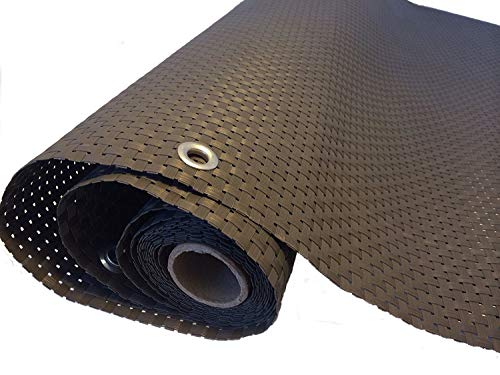 Smart Deko 78878 Grau 10x0,9m Polyrattan Sichtschutz, Balkonsichtschutz, Windschutz, Balkonblende, Garten Sichtschutz, (Grau) (1000x90cm)