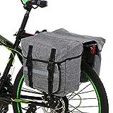Lixada Bike Bag Bicycle Panniers Bag Large Capacity Waterproof Bicycle Rear Seat Bag