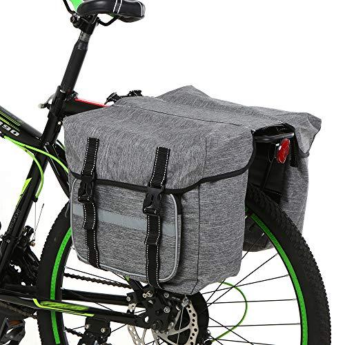 Lixada Alforja Bicicleta Bolsa de Sillín Ciclismo Tronco Pack Bolsa de Transporte para MTB Bicicleta Bicicleta de Carretera
