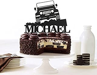 Off Road Jeep Personalized Cake Topper, Off-Road Toppers, Custom 4x4 Truck Toppers, Off Road Jeep Birthday Topper, Truck Jeep Boy's Birthday