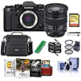 Fujifilm X-T3 Mirrorless Camera with XF 16-80mm F4.0 R OIS WR Lens, Black - Bundle with 64GB SDXC Card, Camera Case, 72mm Filter Kit, Cleaning Kit, Memoery Wallet, Card Reader, Mac Software Pack